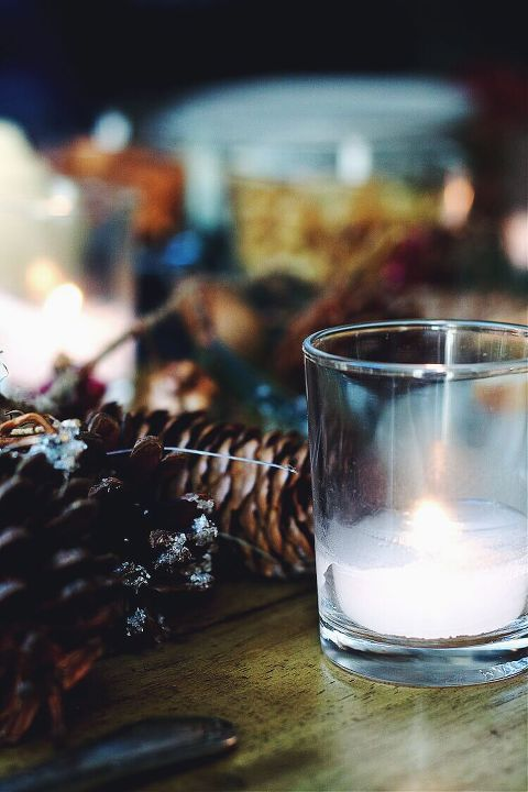 Winter Solstice celebration candles via Food by Mars