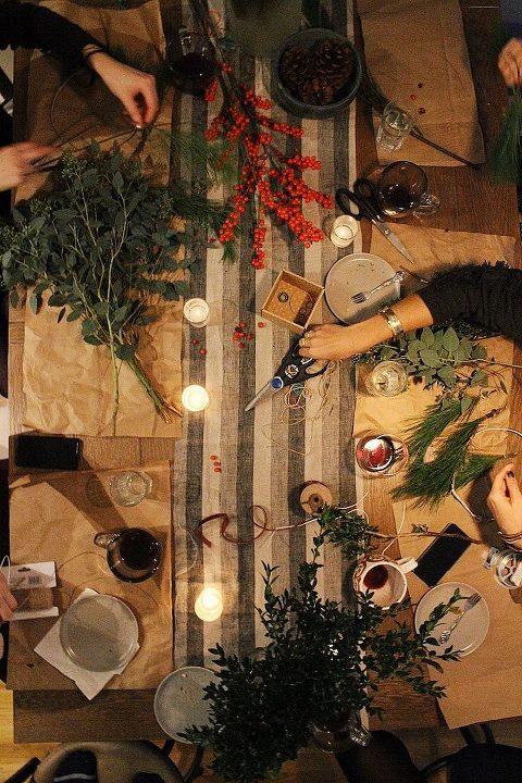 craft wreaths winter solstice celebration via food by mars