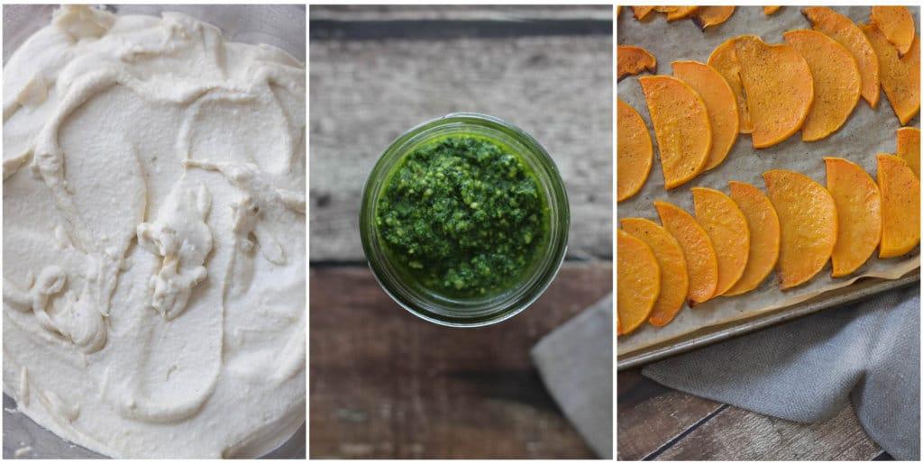 Vegan Butternut Squash Lasagna w/ Cashew Cheese & Kale Pesto