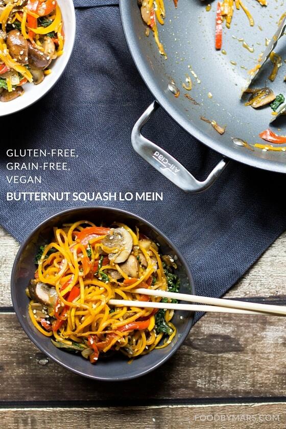 Butternut Squash Lo Mein (Gluten-free, Grain-free, Vegan)
