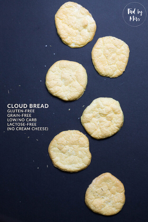 easy cloud bread (lactose-free, dairy-free, keto, paleo) via Food by Mars
