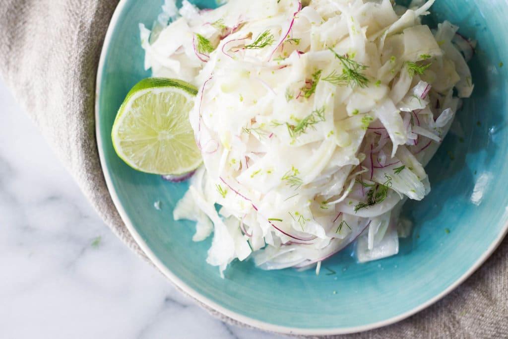 Coconut Lime Fennel Slaw (vegan, gluten-free, grain-free)