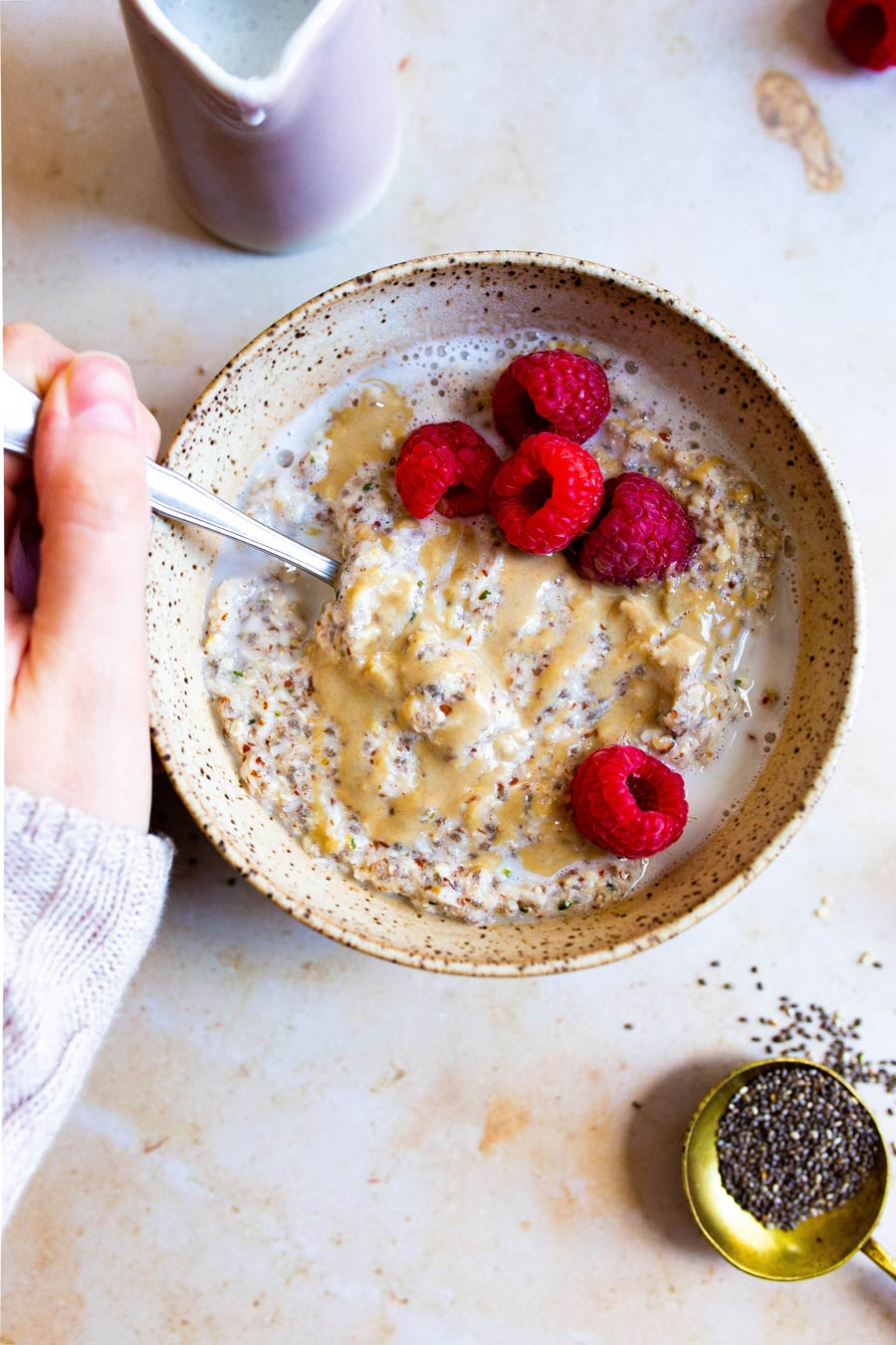 Easy Grain-free Porridge (Paleo, Whole30, Gluten-free, Vegan) via Food by Mars