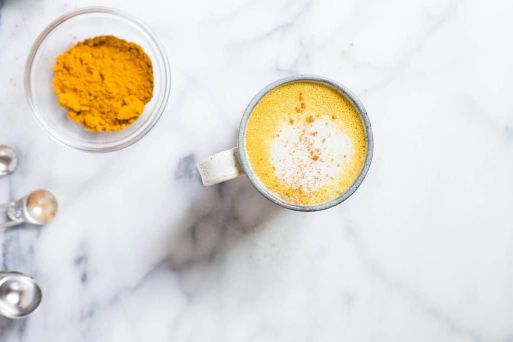 Pumpkin Spice Turmeric Latte (Caffeine-free, Vegan, Dairy-free)