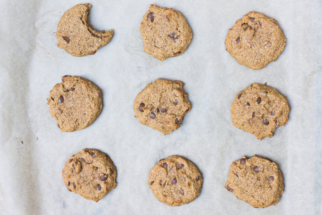 Ginger Carob Chip Cookies (Paleo, Vegan)