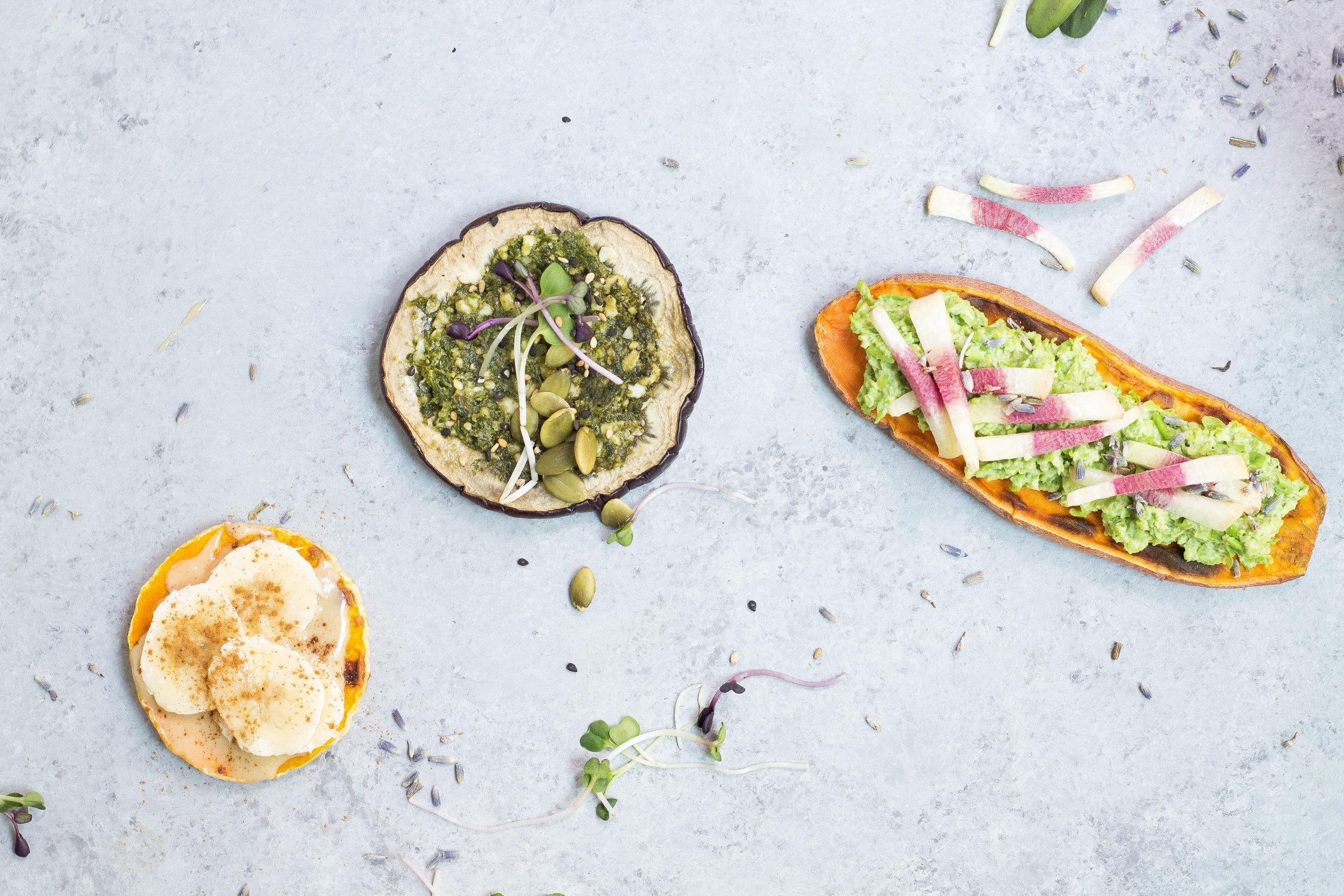 Gluten-free Toast Swaps (Sweet Potato, Eggplant, Butternut Squash)