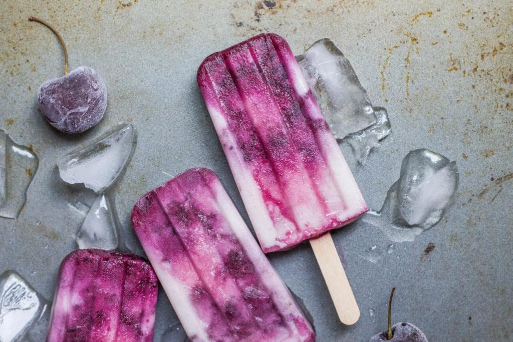 Dairy-free Cherry Vanilla Popsicles (Paleo, AIP, Vegan)
