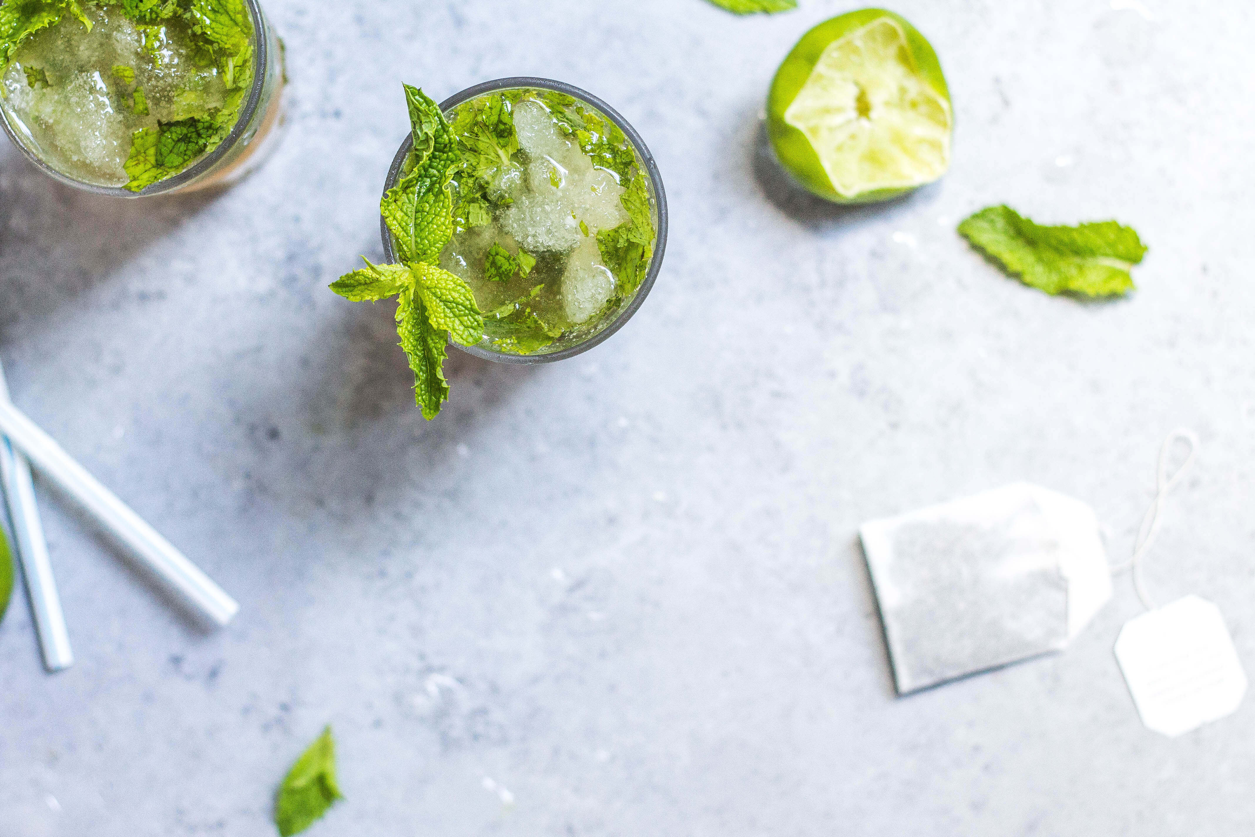 Nettle Tea Mojitos (mocktails, alcohol-free) with herbal super powers via Food by Mars