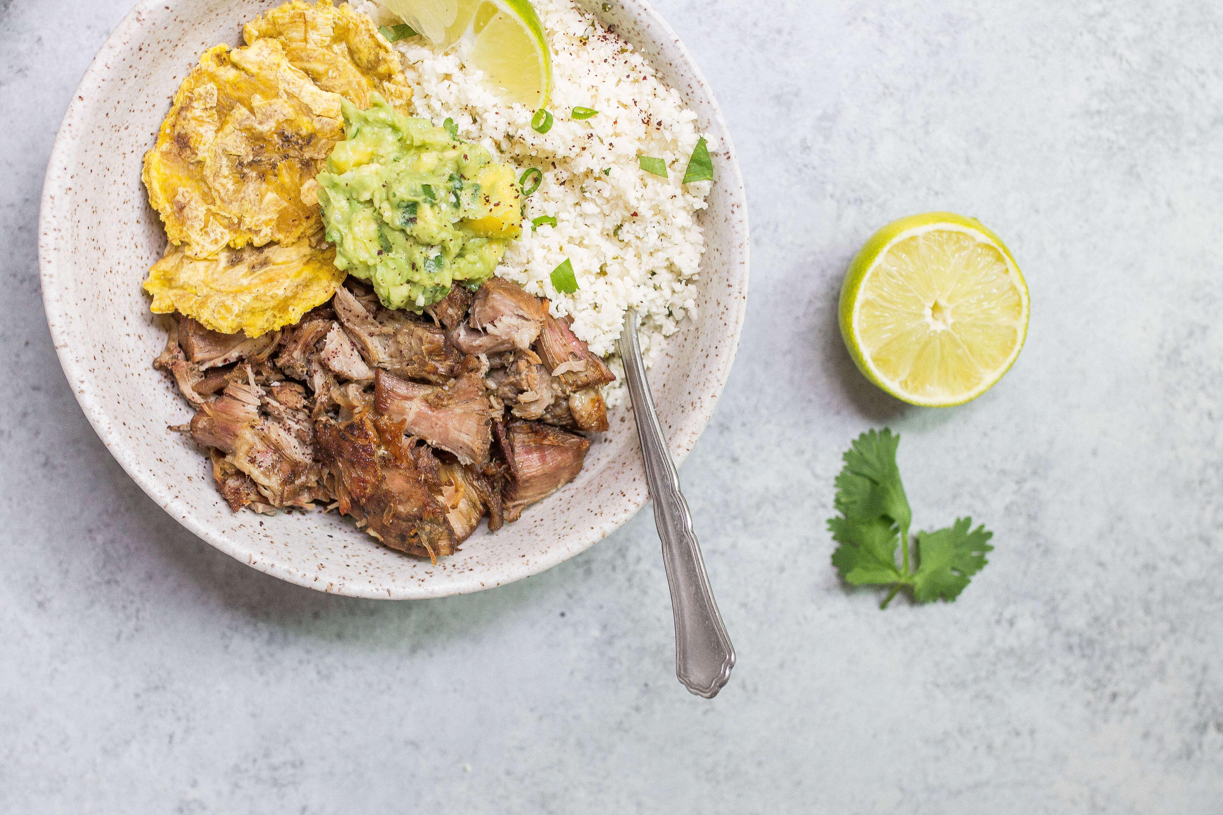 Paleo Carnitas Bowl (Crispy Pulled Pork) (AIP, Grain-free)