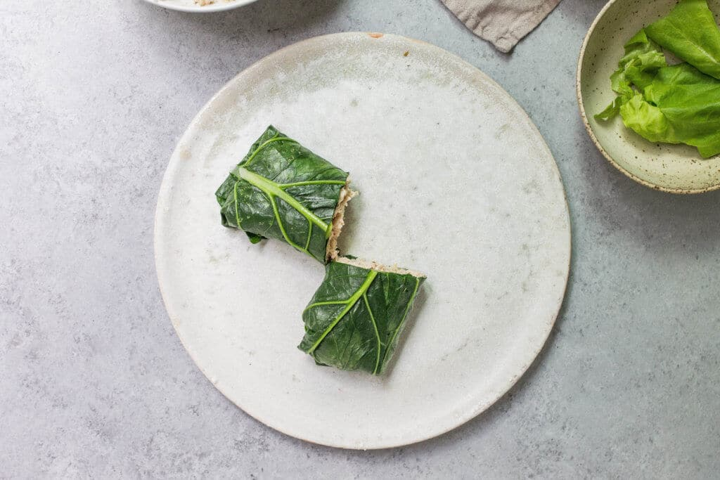 Collard Green Wraps via Food by Mars