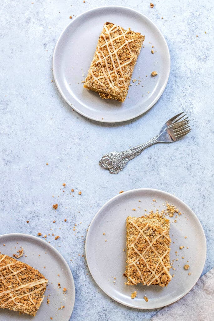 AIP Pumpkin Pie Crumb Bars (paleo, vegan, refined sugar-free, gluten-free) via Food by Mars