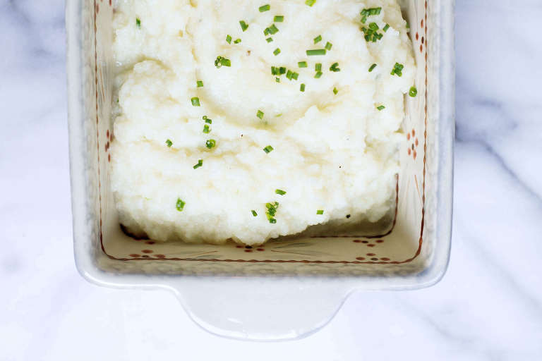 Creamy Cauliflower Mash (Pureé) via Food by Mars (Low-Carb, Paleo, AIP-friendly)