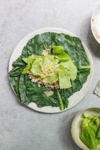 Collard Green Wraps (gluten-free, grain-free, vegan, paleo, AIP, Whole 30) via Food by Mars