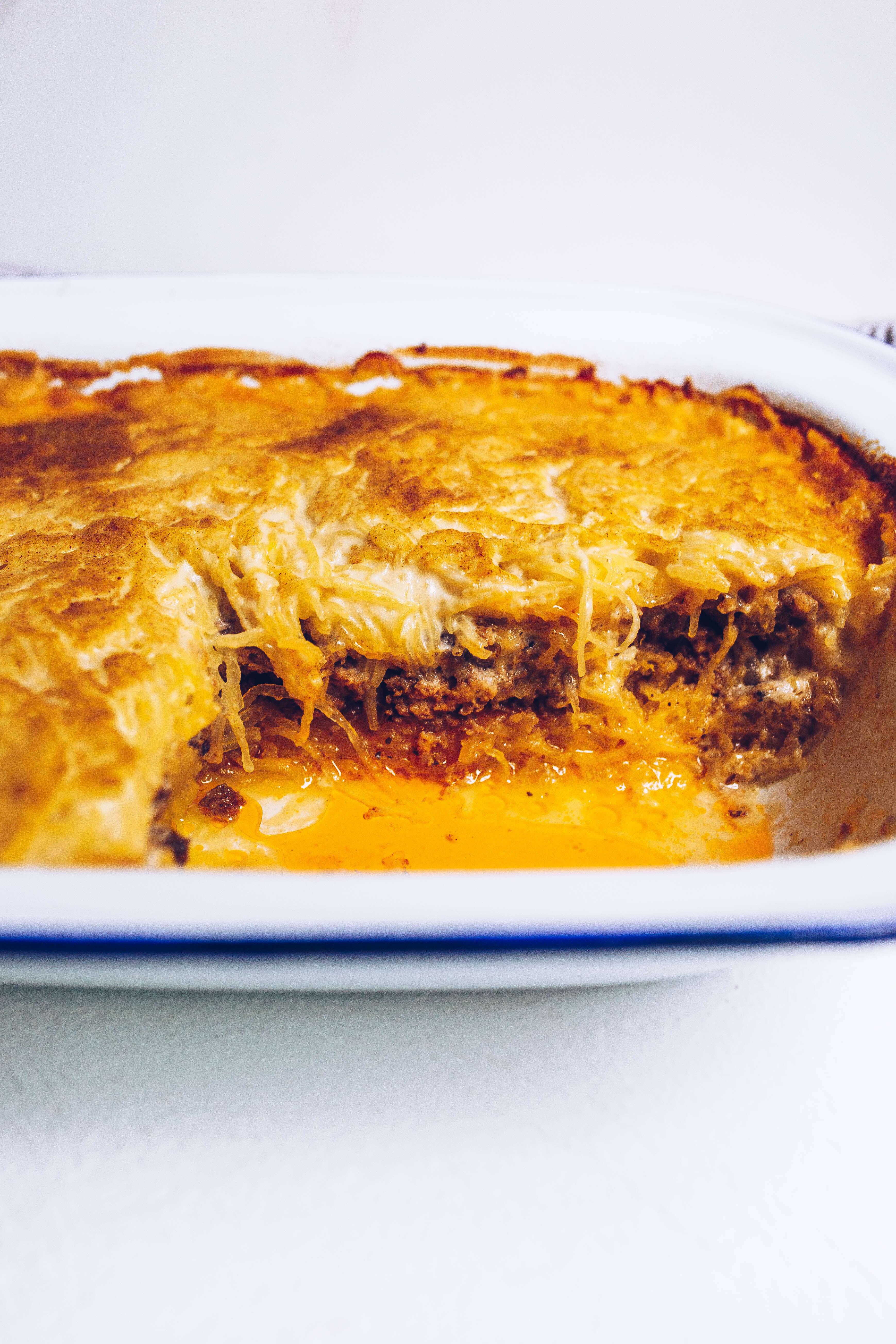 Paleo Spaghetti Squash Pastitsio (Greek Baked Ziti w/ Dairy-free Bechamel) dairy-free, gluten-free, grain-free, low-carb, AIP-friendly via Food by Mars