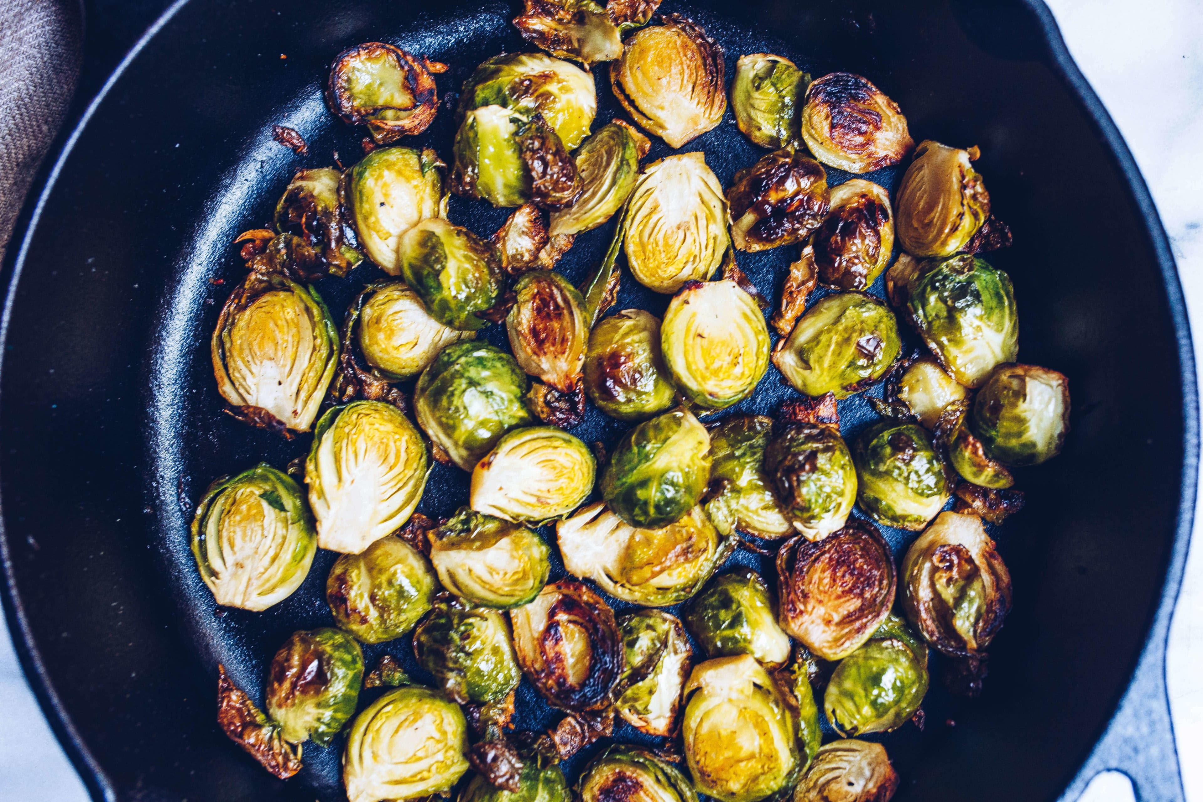 paleo Ghee Roasted Brussels Sprouts via Food by Mars