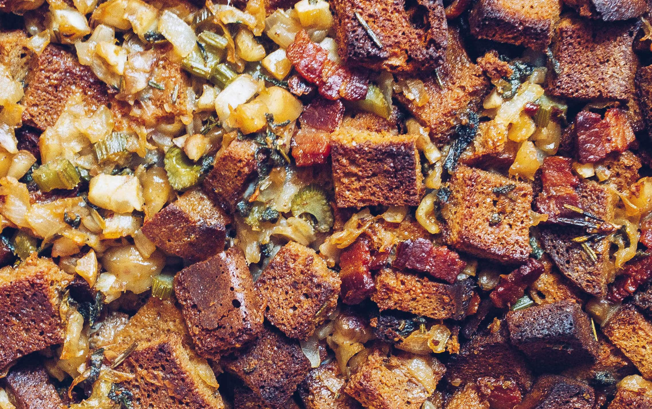 paleo chestnut and bacon stuffing via food by mars