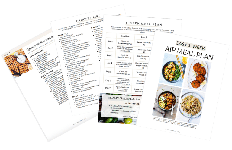 aip meal plan and grocery list downloads