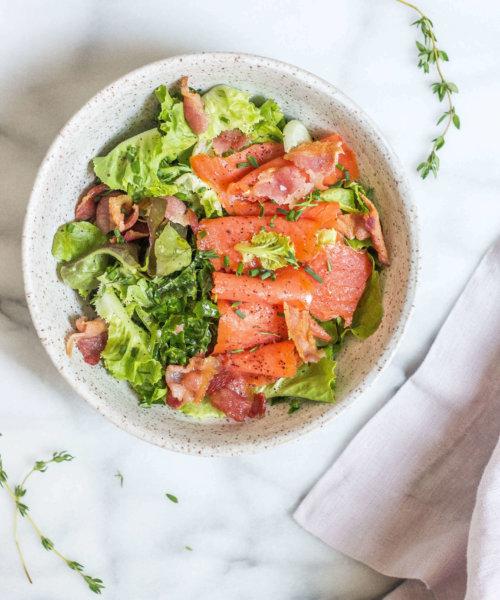 aip salmon pesto salad