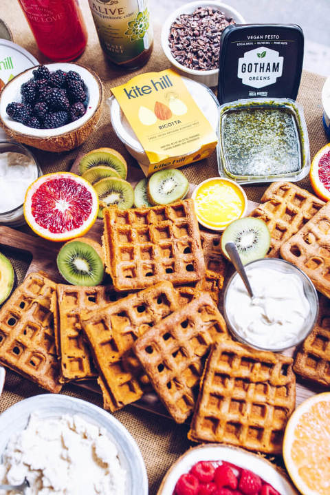 Paleo Waffle Brunch via Food by Mars with Kite Hill