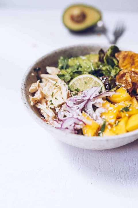 Tropical Chicken Salad (Paleo, AIP, Whole30) via Food by Mars