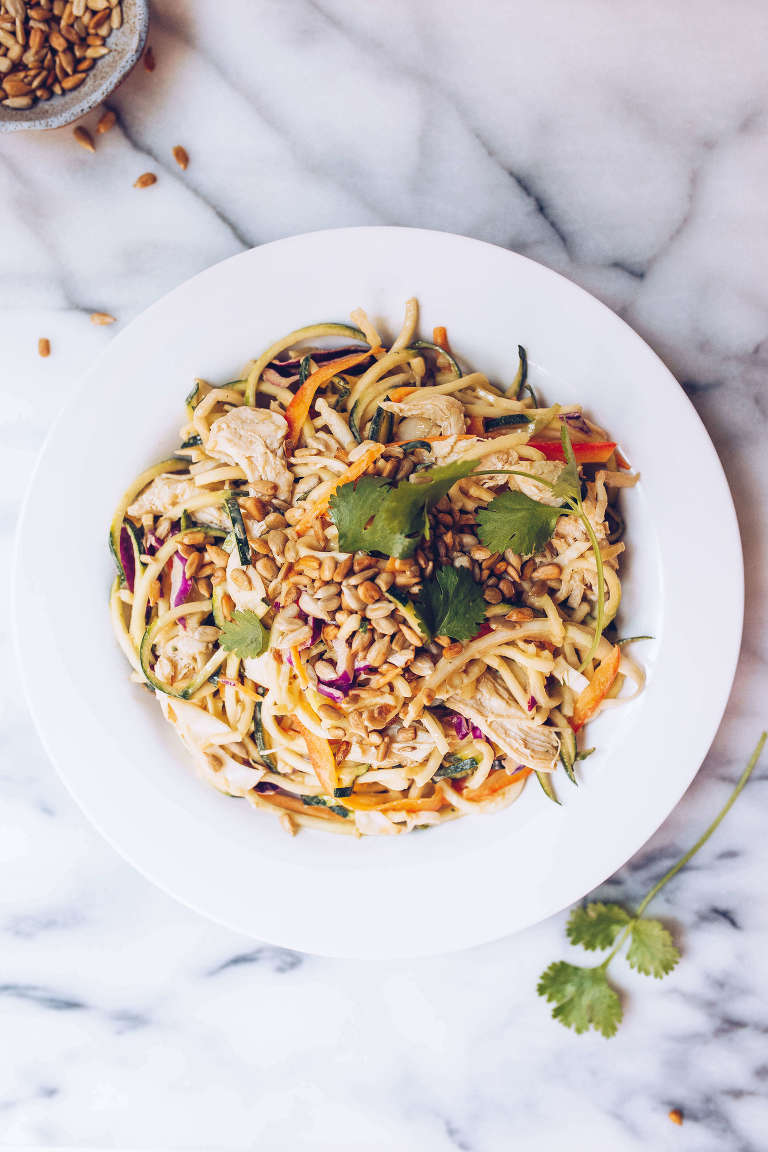 paleo sunflower seed butter pad thai (paleo, whole30) via Food by Mars