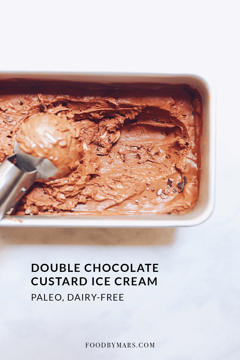 Paleo, Dairy-free Chocolate Custard Ice Cream