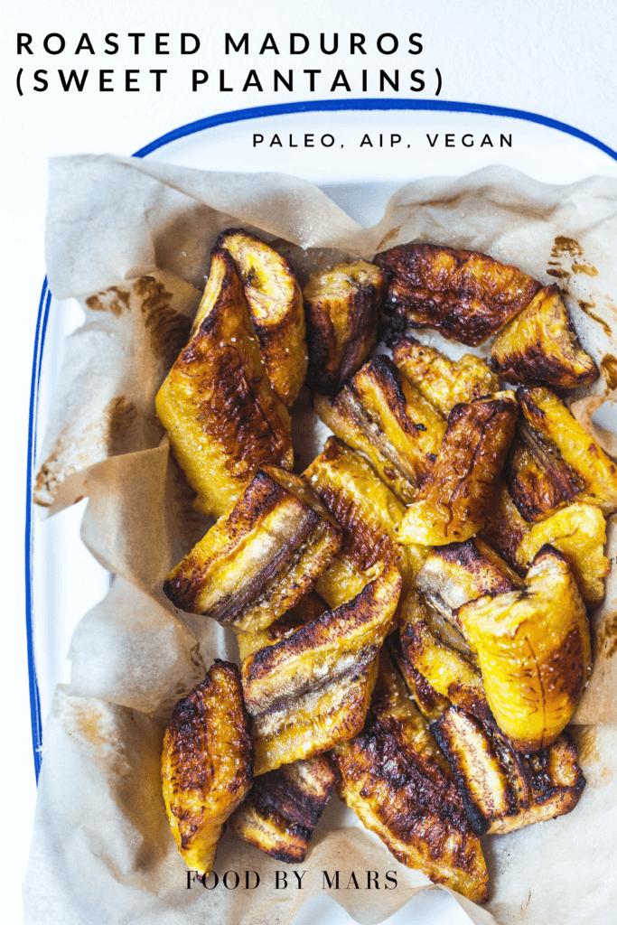 oven roasted sweet plantains (maduros) via Food by Mars