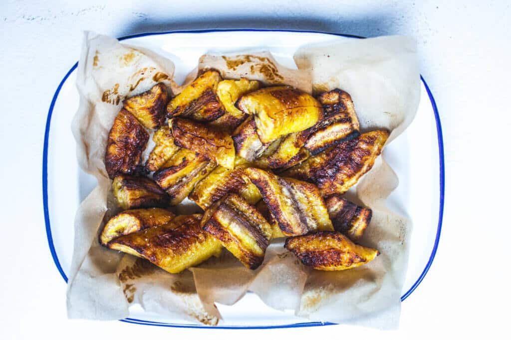 oven roasted sweet plantains (maduros) via Food by Mars