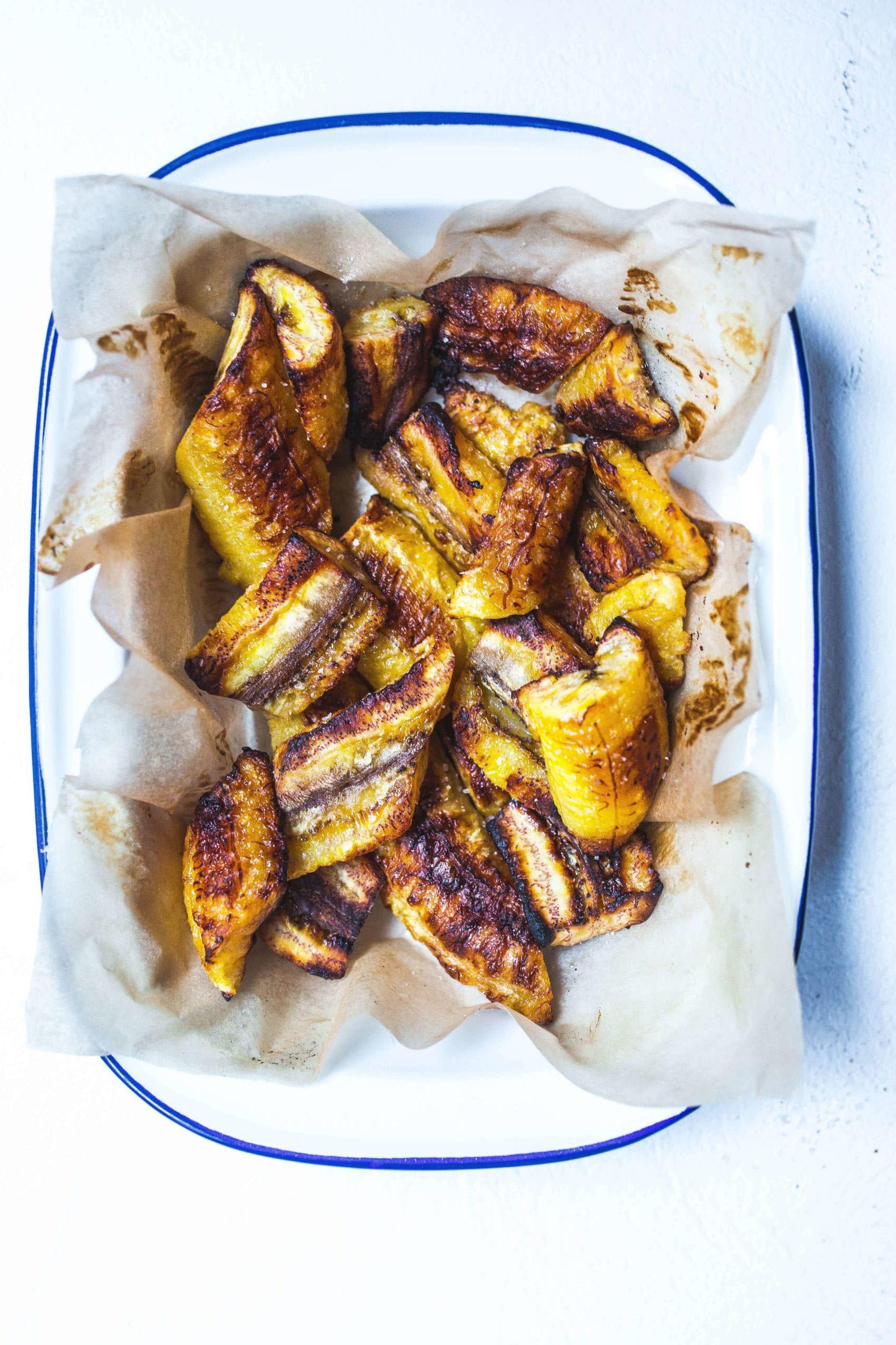 oven roasted sweet plantains recipe (maduros) via Food by Mars