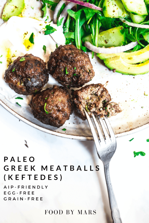 Paleo Greek Meatballs via Food by Mars (AIP, Grain-free, Gluten-free, Egg-free)