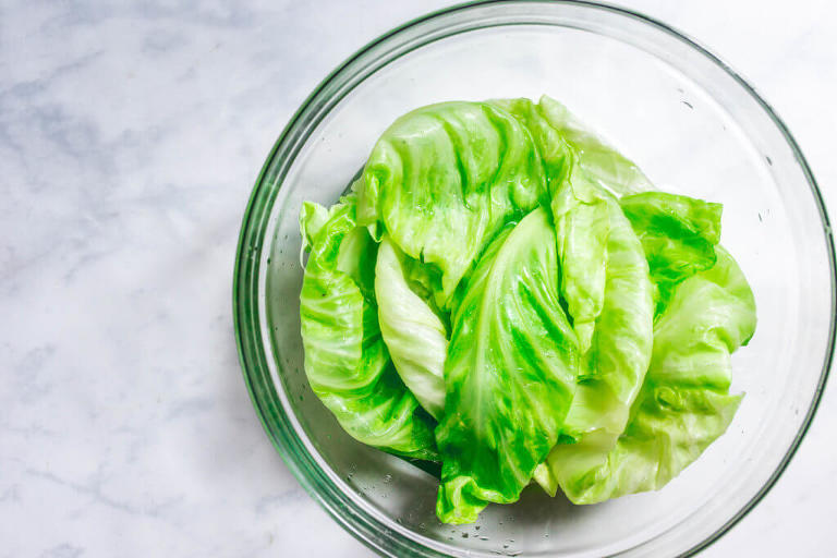 paleo stuffed cabbage rolls - dim sum style (gluten-free, AIP, whole30) via Food by Mars