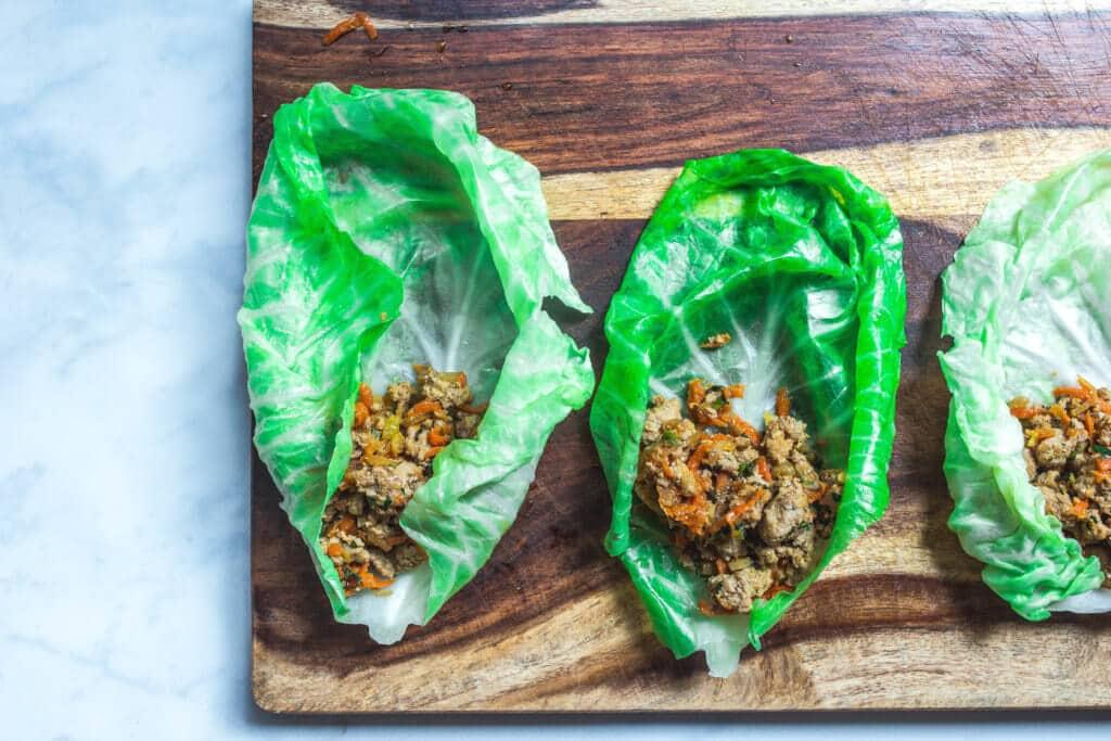 paleo stuffed cabbage rolls - dim sum style (gluten-free, AIP, whole30) via Food by Mars