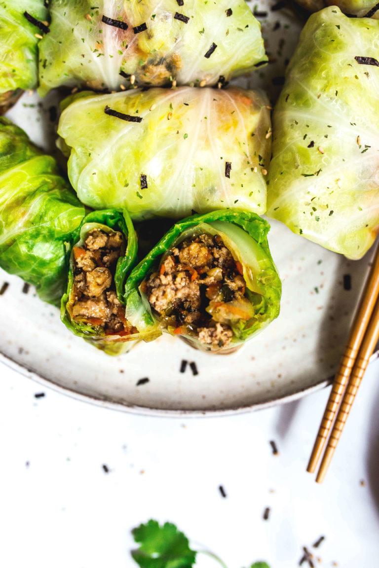 dim sum paleo cabbage rolls via food by mars
