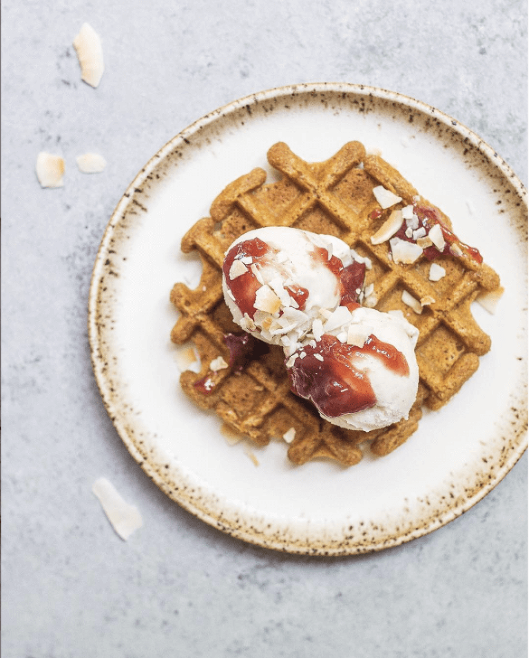 favorite AIP desserts - ice cream waffle via Food by Mars