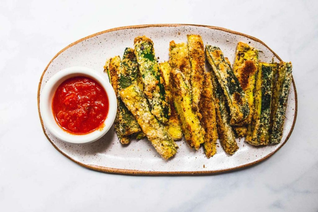 baked zucchini fries (paleo, low-carb, gluten-free) via Foodbymars