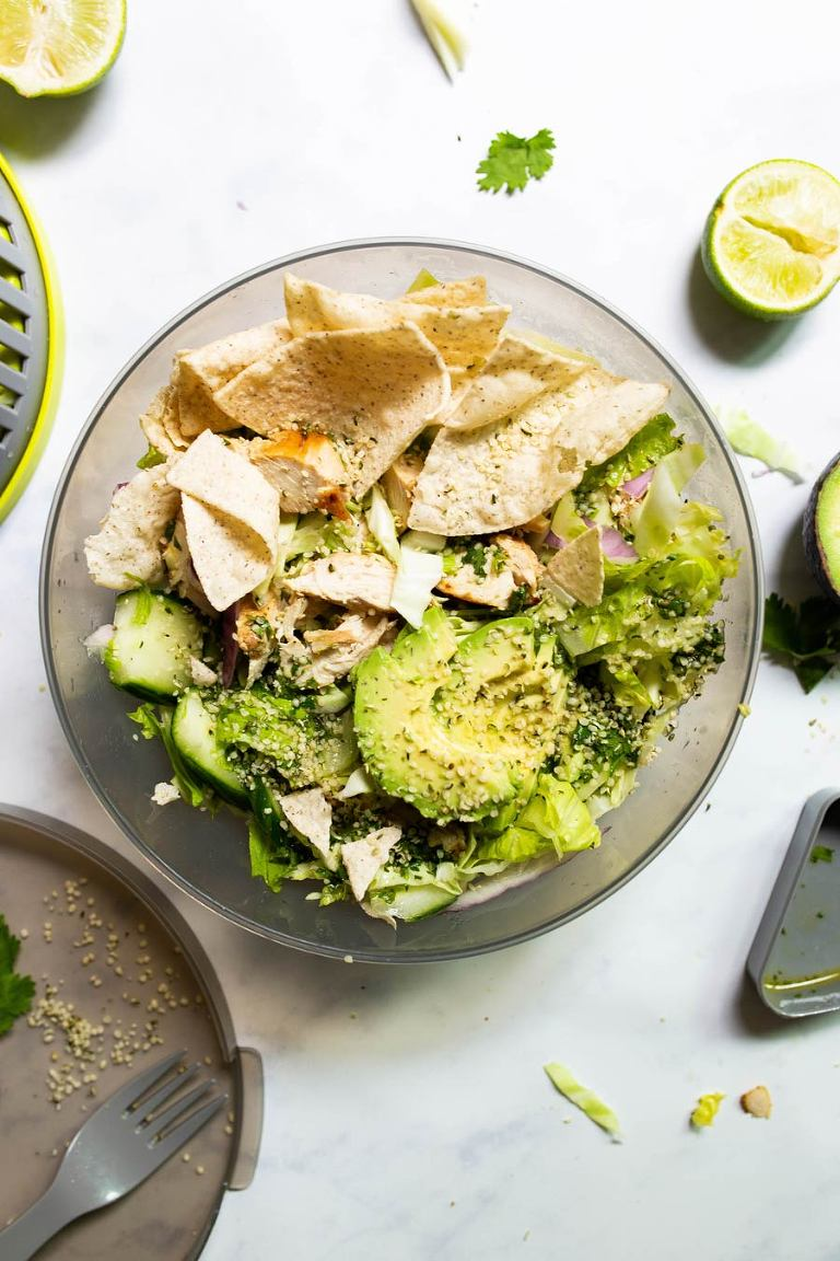 Cilantro-Lime Green Chopped Salad (Paleo)