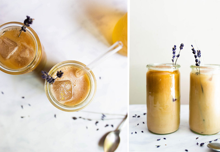Iced Lavender London Fog Latte (Dairy-free, Paleo, Vegan) via Food by Mars