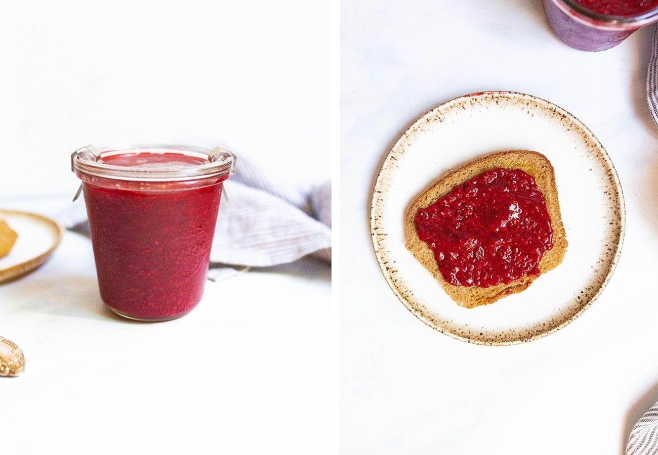 Quick Raspberry Chia Seed Jam (Paleo, Vegan, Refined Sugar-free) via Food by Mars