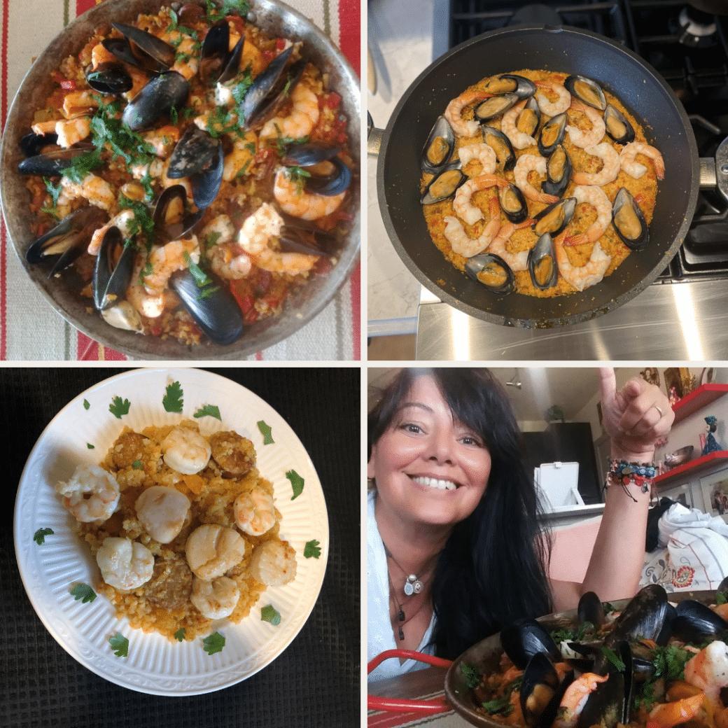 paella cooking class photos