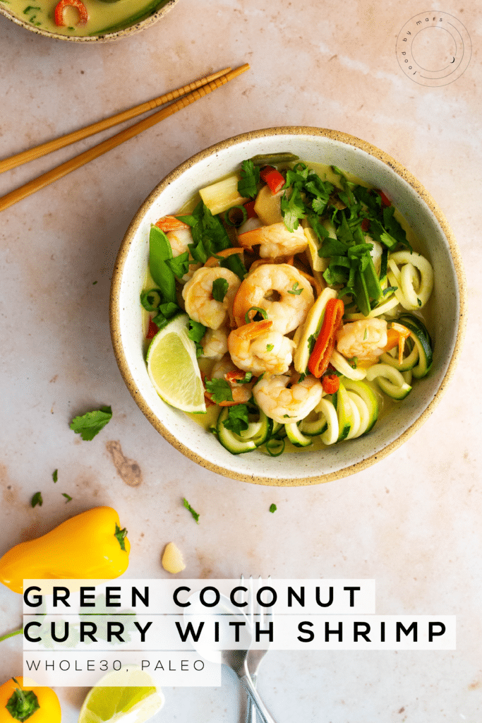 Easy Green Coconut Curry Soup with Shrimp Recipe