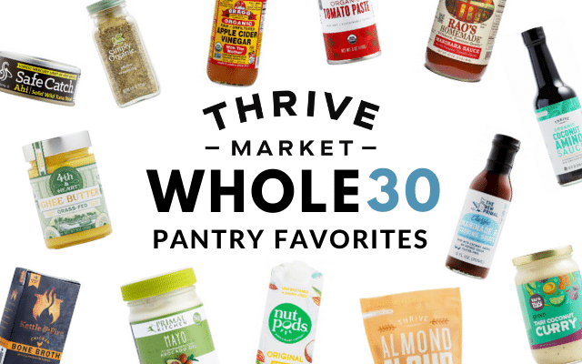 Thrive Market Pantry Favorites on Whole30 via Food by Mars