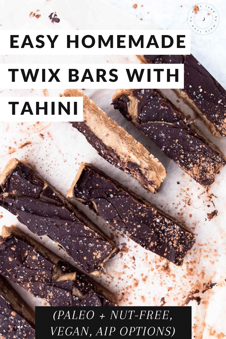 Easy Homemade Twix Bars with Tahini (Paleo, Nut-free) via Food by Mars
