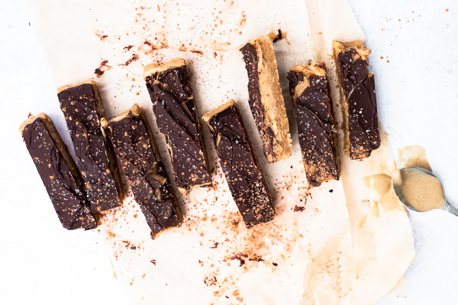 Easy Homemade Twix Bars with Tahini (Paleo, Nut-free) via Food by Mars