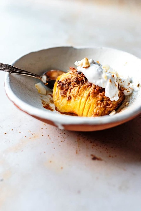 hasselback apples via food by mars
