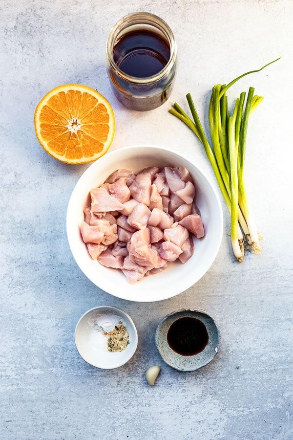 gluten-free orange chicken ingredients