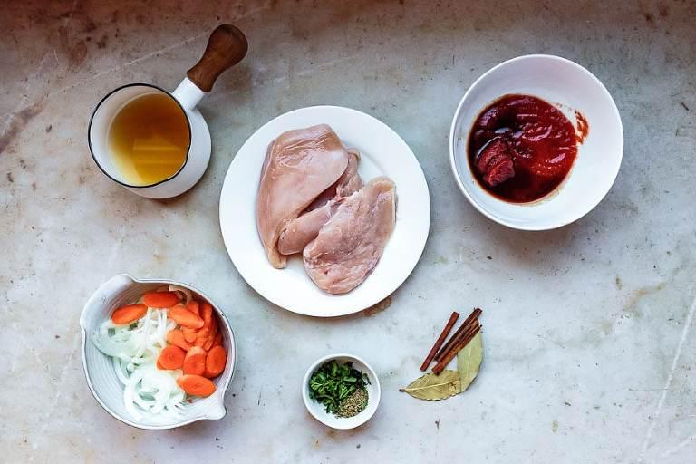 Greek Chicken Stew Ingredients