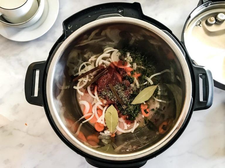 Instant Pot Greek Chicken Stew with Mashed Cauliflower Step 2
