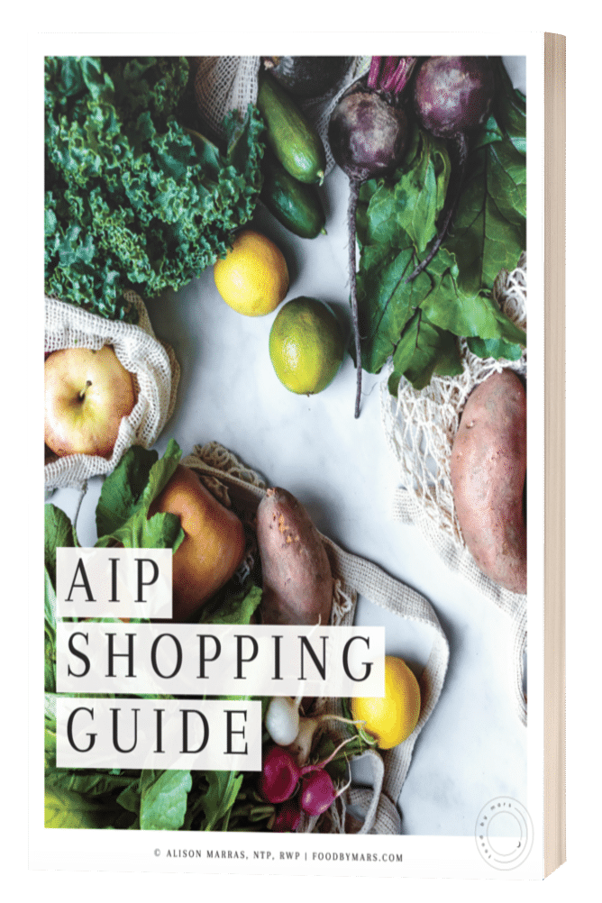 free AIP shopping list download