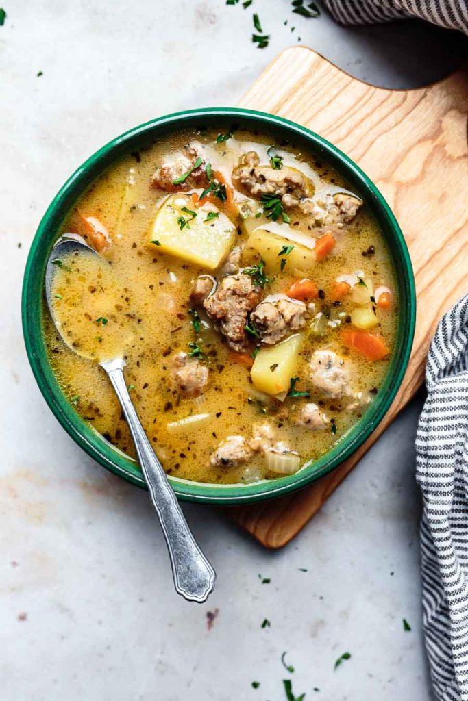 creamy sausage potato soup