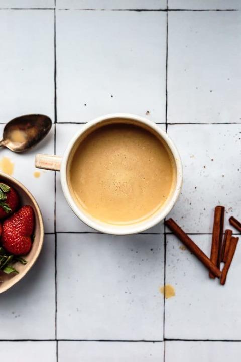 Homemade Cinnamon Vanilla Cordyceps Latte recipe (Caffeine-Free, Dairy-Free)